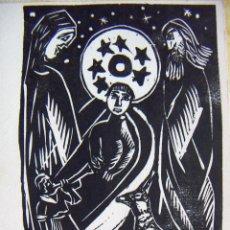 Arte: XILOGRAFIA A IDENTIFICAR FIRMADA EN PLANCHA DE FAUS. Lote 54160719