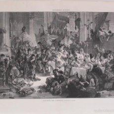 Arte: ALEGORÍA DEL CARNAVAL - 1885 - SEGÚN CUADRO DE GATTERI. Lote 56491666