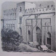 Arte: ANTIGUA XILOGRAFÍA : CASA LONJA EN VALENCIA. 1859. Lote 56647394
