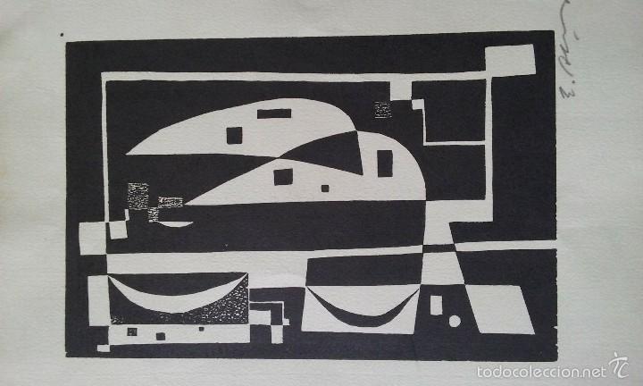 Arte: Xilografia original E.Alcoy, firmada a lapiz, medidas 29,5x21cm - Foto 2 - 56841996