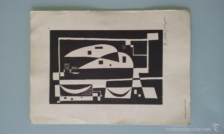Arte: Xilografia original E.Alcoy, firmada a lapiz, medidas 29,5x21cm - Foto 3 - 56841996