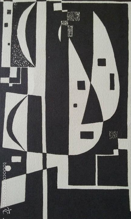 XILOGRAFIA ORIGINAL E.ALCOY, FIRMADA A LAPIZ, MEDIDAS 29,5X21CM (Arte - Xilografía)