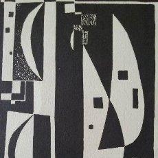 Arte: XILOGRAFIA ORIGINAL E.ALCOY, FIRMADA A LAPIZ, MEDIDAS 29,5X21CM. Lote 56841996