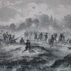 Arte: TIRO DE PAJAROS EN EL RIO DE VALENCIA .AÑO 1859. Lote 56886665