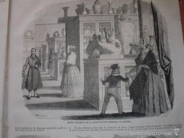 FABRICA DE SEVRES CERAMICA. CON TEXTO 2 H.AÑO 1859 (Arte - Xilografía)