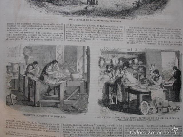 Arte: FABRICA DE SEVRES CERAMICA. CON TEXTO 2 H.AÑO 1859 - Foto 2 - 56957066