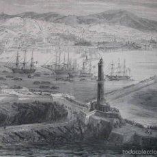 Arte: VISTA DE GENOVA .AÑO 1859. Lote 56958480