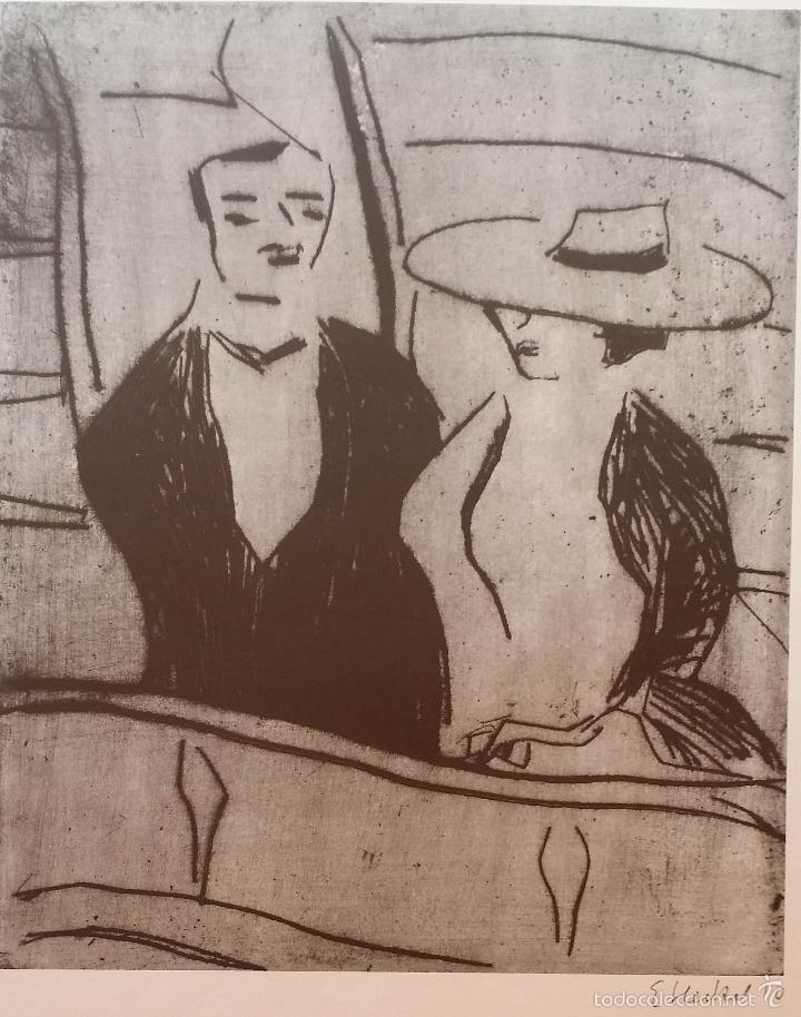 Arte: Erich HECKEL: cartel xilografico firmado en plancha / Galeria Nierendorf / 1973 - Foto 3 - 57932883