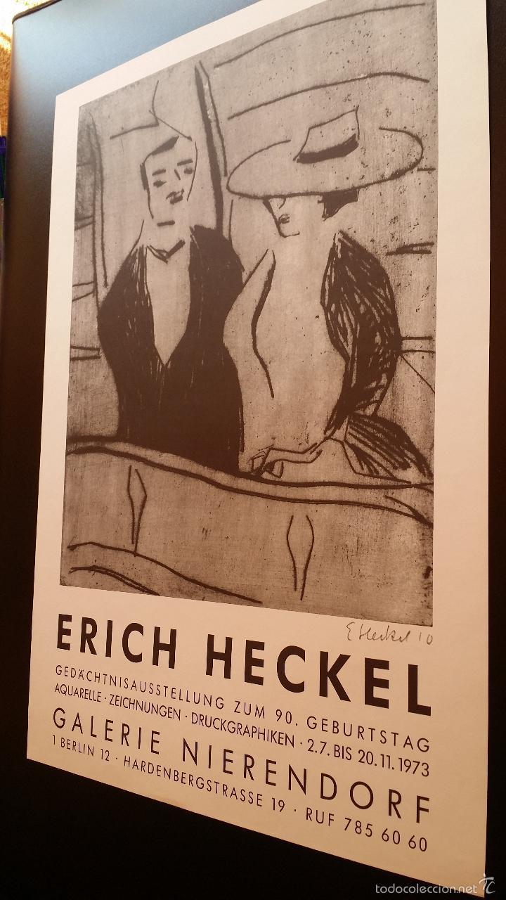 Arte: Erich HECKEL: cartel xilografico firmado en plancha / Galeria Nierendorf / 1973 - Foto 7 - 57932883