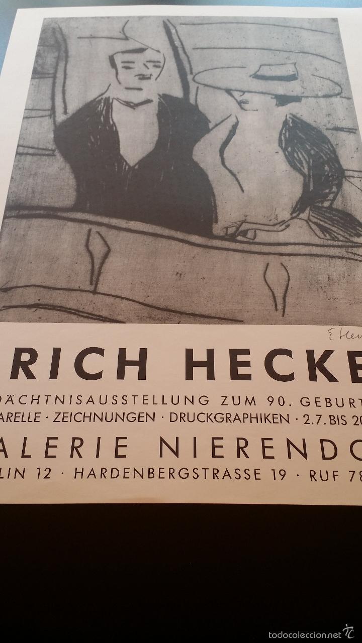 Arte: Erich HECKEL: cartel xilografico firmado en plancha / Galeria Nierendorf / 1973 - Foto 8 - 57932883