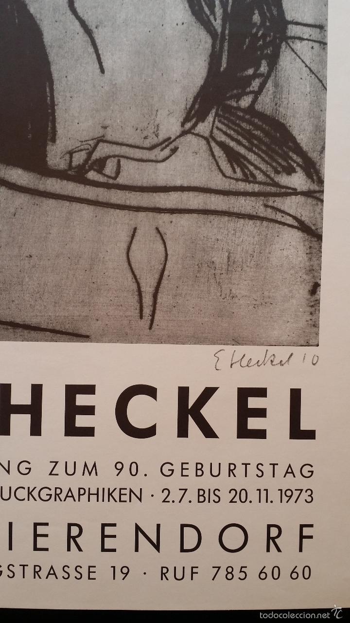 Arte: Erich HECKEL: cartel xilografico firmado en plancha / Galeria Nierendorf / 1973 - Foto 9 - 57932883