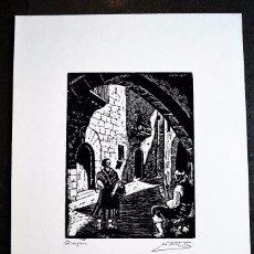 Arte: SERIE PUEBLO ESPAÑOL ORIGINALES DE CASTELLS MARTÍ. ARAGÓN.. Lote 57945639
