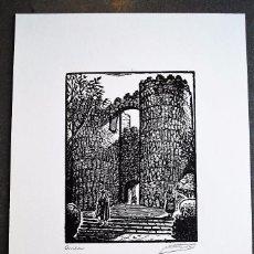 Arte: SERIE PUEBLO ESPAÑOL ORIGINALES DE CASTELLS MARTÍ. ÁVILA.. Lote 57945667