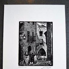 Arte: SERIE PUEBLO ESPAÑOL ORIGINALES DE CASTELLS MARTÍ. MALLORCA. Lote 57945677