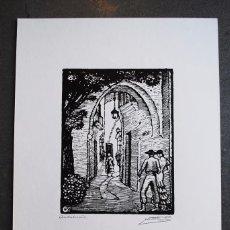 Arte: SERIE PUEBLO ESPAÑOL ORIGINALES DE CASTELLS MARTÍ. ANDALUCÍA. Lote 57945691