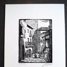 Arte: SERIE PUEBLO ESPAÑOL ORIGINALES DE CASTELLS MARTÍ. CATALUÑA.. Lote 57945718