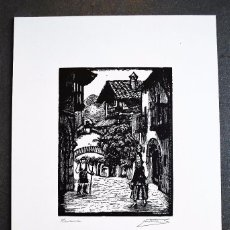 Arte: SERIE PUEBLO ESPAÑOL ORIGINALES DE CASTELLS MARTÍ. NAVARRA. Lote 57945725