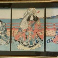 Arte: ESTAMPA JAPONESA ENMARCADA. Lote 59993041
