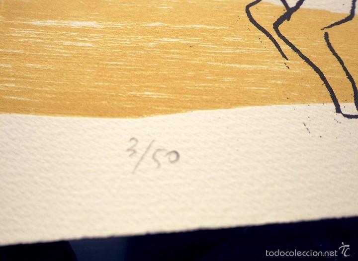 Arte: Tauro, serigrafía-xilografía, firmada y numerada (3/50), ed. limitada, autora Marta Chinchilla - Foto 2 - 60267035