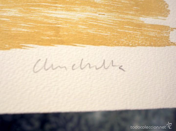 Arte: Tauro, serigrafía-xilografía, firmada y numerada (3/50), ed. limitada, autora Marta Chinchilla - Foto 3 - 60267035