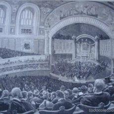 Arte: CONCIERTO DE RUBINSTEIM .EXPOSICION UNIVERSAL DE PARIS .AÑO 1878. Lote 60919307