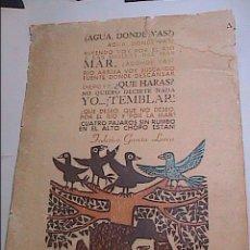 Arte: XILOGRAFIA ORIGINAL DE LEONILDA GONZALEZ. MONTEVIDEO.URUGUAY. FEBRERO 1971.. Lote 61012923