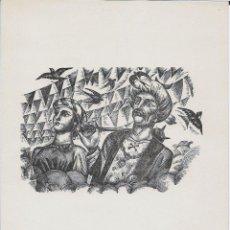 Arte: XILOGRAFIA INÈDITA D'ENRIC C. RICART - 1964. Lote 135059622
