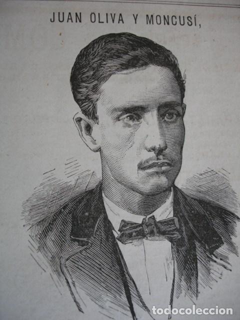 JUAN OLIVA Y MONCUSI .AÑO 1878 (Arte - Xilografía)