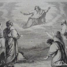 Arte: APARICION DE DIOS A LOS QUINIENTOS .ESCENA DE LA BIBLIA NUEVO TESTAMENTO.AÑO 1854. Lote 67242589