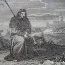 Arte: SE DEBE ORAR CON LA CABEZA CUBIERTA .ESCENA DE LA BIBLIA NUEVO TESTAMENTO.AÑO 1854. Lote 67244853