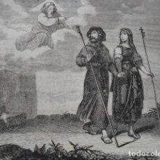 Arte: LA MUJER NO SE SEPARE DEL MARIDO .ESCENA DE LA BIBLIA NUEVO TESTAMENTO.AÑO 1854. Lote 67245309