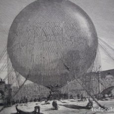 Arte: PARIS ASCENSION GLOBO CAUTIVO EN LAS TULLERIAS AÑO 1878. Lote 71523059