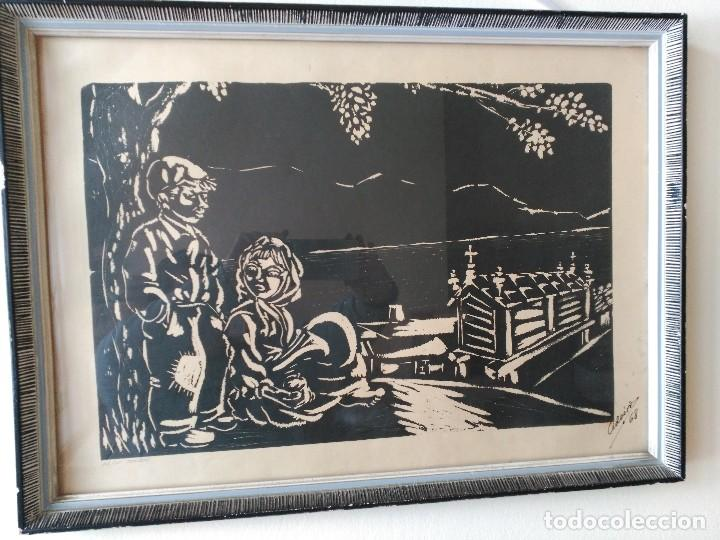 OBRA GRAFICA DE JOSÉ CID DOIRO .CIDOIRO, MOCIÑOS,1968 (Arte - Xilografía)