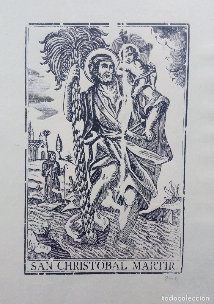 ESPECIAL GRABADO, XILOGRAFÍA. SAN CRISTÓBAL MÁRTIR, FINALES DEL S.XVIII. (Arte - Xilografía)