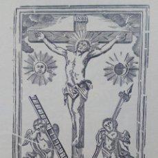 Arte: GRABADO, XILOGRAFÍA. CRISTO CRUCIFICADO. FINALES DEL S.XVIII.. Lote 209967282