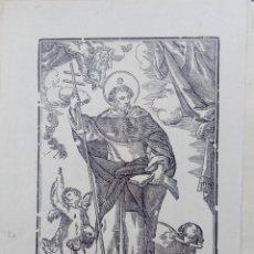 Arte: GRABADO, XILOGRAFÍA. S. DOMINGO DE GUZMÁN. FINALES DEL S.XVIII.. Lote 73472127