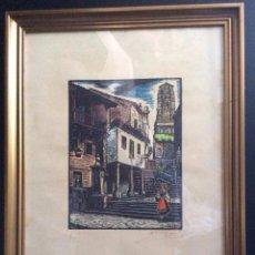 Arte: GALICIA -XILOGRAFIA- DEL GRABADOR – JOAN CASTELLS I MARTÍ (1906 – 1980),DE LA DÉCADA DE LOS AÑOS 50 . Lote 73680907