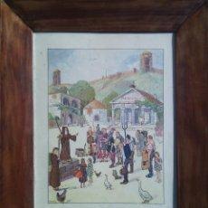 Arte: JEAN JACQUES WALTZ, HANSI (1873-1951). EL CRISTIANISMO EN ALSACIA. XILOGRAFÍA AÑOS 50.. Lote 73717503