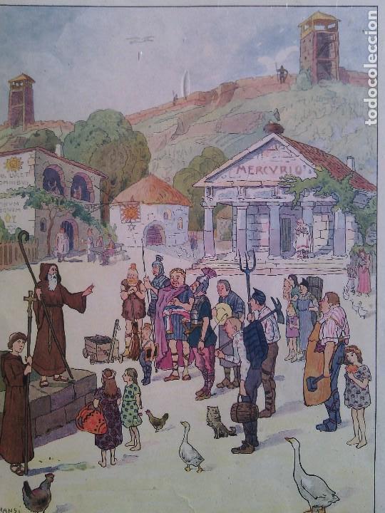 Arte: JEAN JACQUES WALTZ, HANSI (1873-1951). EL CRISTIANISMO EN ALSACIA. XILOGRAFÍA AÑOS 50. - Foto 2 - 73717503