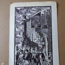 Arte: XILOGRAFIA DE ANTONIO CANET. 14/30. FIRMADA POR EL AUTOR. 16 X 30 CM SUPERFICIE PINTADA.. Lote 81284792
