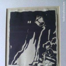 Arte: LANTERNA Y UNA PERSONA A DORMIR O BORRACHO - FIRMA JACOBS '34. Lote 81747112