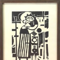 Arte: LA MADRE Y SUS HIJOS. XILOGRAFÍA. JOSEP MARIA ROVIRA BRULL. ESPAÑA. SIGLO XX. Lote 81882740