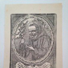 Arte: ANTIGUA XILOGRAFÍA ORIGINAL BEATO SERAFIN DE MONTEGRANARIO, MENORS CAPUTXINS. Lote 86335392