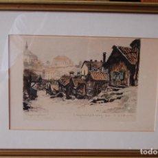 Arte: E. HÄLLGREN (ESTOCOLMO 1889-LUDVIKA 1944) XILOGRAFÍA 17X23 CM CON MARCO 33X43CM. Lote 86934808