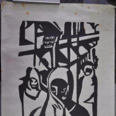 Arte: WILLI KRUSE , WOODCUT , GRABADO A LA MADERA , FIRMADO Y TITULADO , . Lote 87422064