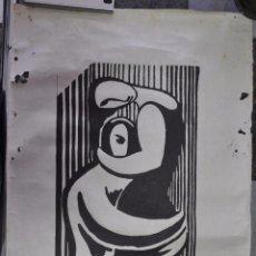 Arte: WILLI KRUSE , WOODCUT , GRABADO A LA MADERA , FIRMADO Y TITULADO , . Lote 87422236