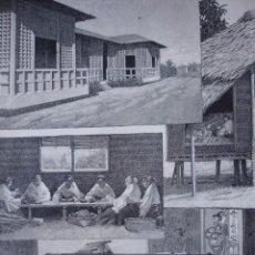 Arte: MADRID EXPOSICION DE FILIPINAS TELARES .AÑO 1887. Lote 90416959