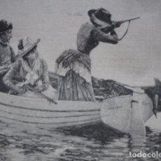 Arte: CAZA DE PATOS ALEGANDRO GUILLON .AÑO 1887. Lote 90616070