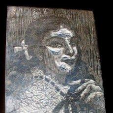 Arte: GRABADO MADERA - RETRATO - XILOGRAFIA. Lote 95319347