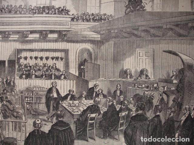 IRLANDA TRIBUNAL DE LOS FENIANOS .AÑO 1865. 45X32 (Arte - Xilografía)